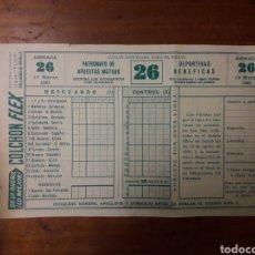 Altri oggetti di carta: PUBLICIDAD COLCHON FLEX FOLLETO DE QUINIELA DE 1961. Lote 176385775