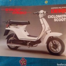 Coleccionismo Papel Varios: FOLLETO ORIGINAL PUBLICITARIO DERBI SCOOTER START DS 50. Lote 176565709