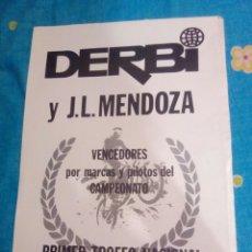 Coleccionismo Papel Varios: FOLLETO ORIGINAL PUBLICITARIO DERBI Y J.L MENDOZA MOTO CROSS. Lote 176566553