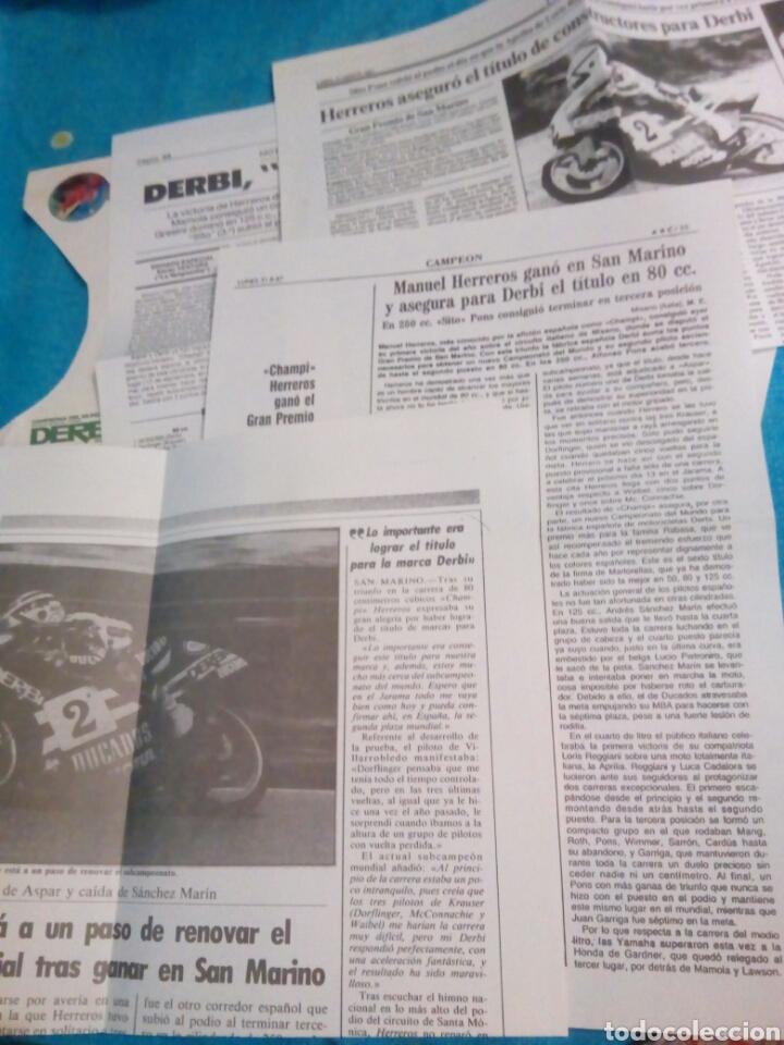 Coleccionismo Papel Varios: Documentacion original derbi incluye sobre original - Foto 2 - 176567232