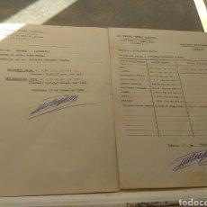 Coleccionismo Papel Varios: PAREJA DE CARTAS ANÁLISIS SANGRE Y HEMATOLÓGICO - DOCTOR EMILIO PÉREZ COSTELL - VALENCIA 1976. Lote 176790688