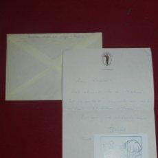 Coleccionismo Papel Varios: (M) JOAN BROSSA - CARTA MANUSCRITA DE JOAN BROSSA CON SOBRE, BUEN ESTADO. Lote 176811025