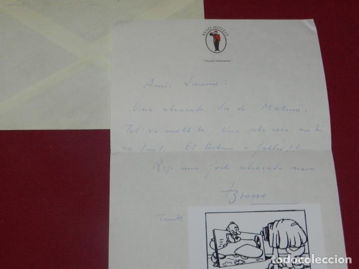 Coleccionismo Papel Varios: (M) JOAN BROSSA - CARTA MANUSCRITA DE JOAN BROSSA CON SOBRE, BUEN ESTADO - Foto 2 - 176811025