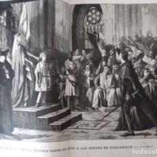 Coleccionismo Papel Varios: DOÑA MARIA DE MOLINA GRABADO ORIGINAL 1875. Lote 176853088