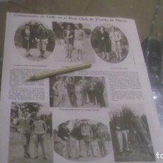 Coleccionismo Papel Varios: RECORTE AÑOS 1929/30 -(MADRID)CAMPEONATO GOLF CLUB PUERTA HIERRO,ATRAS .ESQUÍ EN NAVACERRADA. Lote 176925920