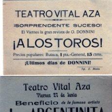 Coleccionismo Papel Varios: DOS FOLLETOS PUBLICITARIOS=TEATRO VITAL AZA-MALAGA=IMPRESOS EN TIP. E. MONTES-MALAGA .. Lote 177023635