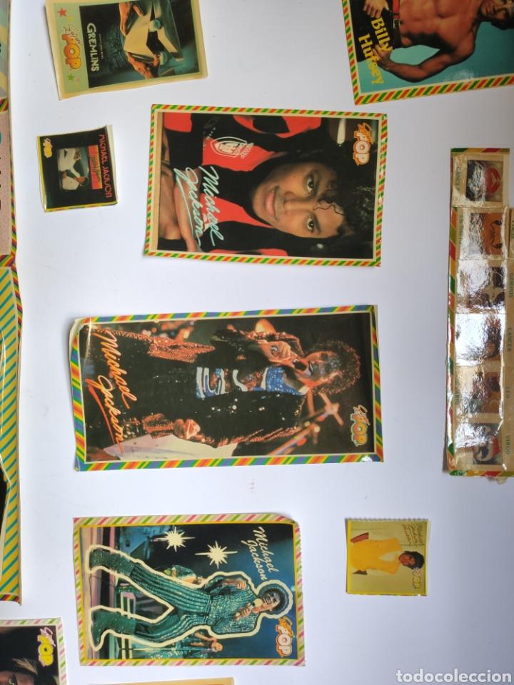 Coleccionismo Papel Varios: Lote pegatinas vintage superpop. Miquel Jackson, John Travolta etc.. - Foto 2 - 177114895