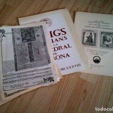 Coleccionismo Papel Varios: LOTE 23 GOIGS ,2 CARPETAS 1980. Lote 177288880