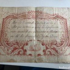 Coleccionismo Papel Varios: FELICITACIÓN ANTIGUA. Lote 177584197