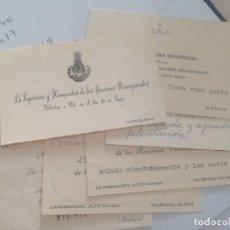 Coleccionismo Papel Varios: CARTAS DE VISITA.. Lote 177708985