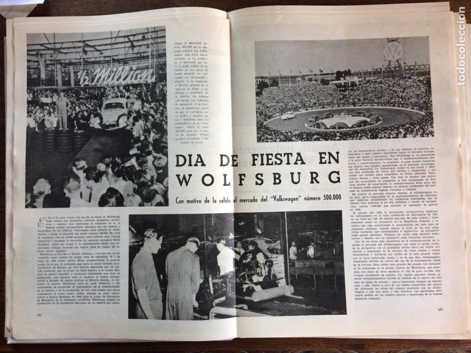 REPORTAJE AUTOMÓVIL VW VOLKSWAGEN ESCARABAJO 500000 UNIDADES 1953 (Coleccionismo en Papel - Varios)