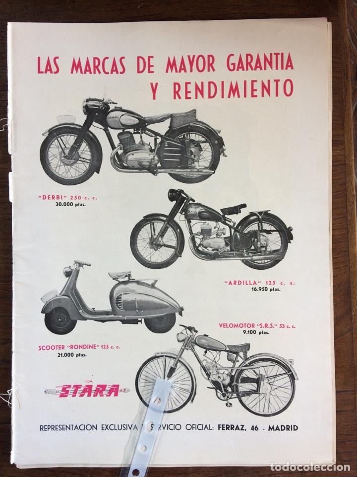 PUBLICIDAD MOTO DERBI ARDILLA VELOMOTOR STARA DE 1953 (Coleccionismo en Papel - Varios)