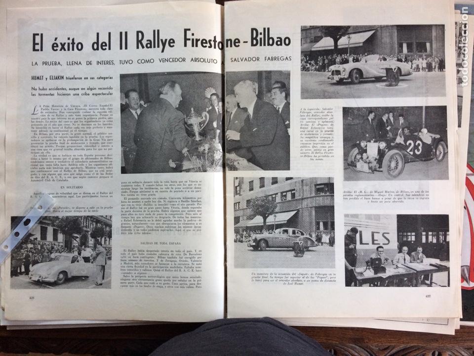REPORTAJE AUTOMÓVIL RALLYE FIRESTONE BILBAO DE 1953 (Coleccionismo en Papel - Varios)