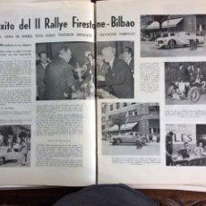 Coleccionismo Papel Varios: REPORTAJE AUTOMÓVIL RALLYE FIRESTONE BILBAO DE 1953. Lote 177824662
