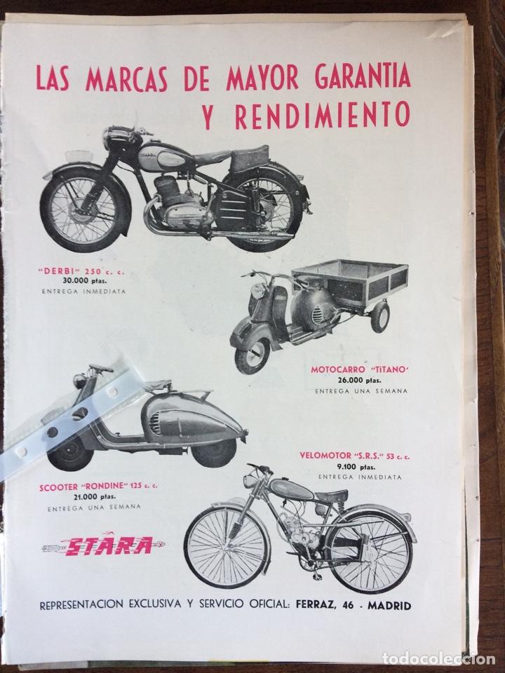 PUBLICIDAD MOTO MOTOCARRO VELOMOTOR STARA DERBI DE 1953 (Coleccionismo en Papel - Varios)