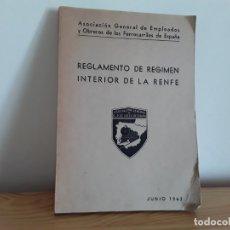Coleccionismo Papel Varios: RENFE, REGLAMENTO RÉGIMEN INTERIOR . Lote 178069908