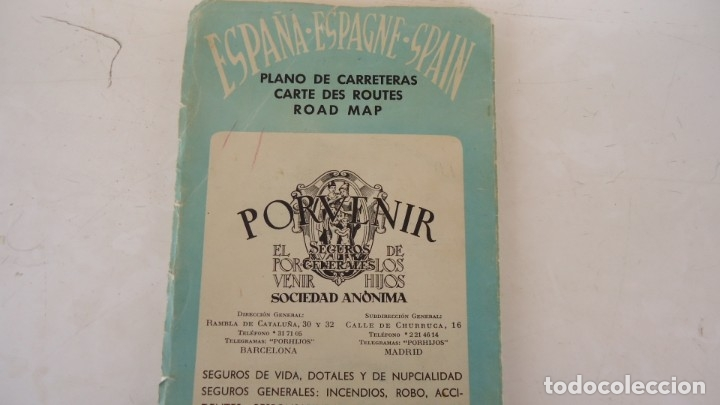MAPA DE CARRETERAS PORVENIR (Coleccionismo en Papel - Varios)