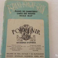 Coleccionismo Papel Varios: MAPA DE CARRETERAS PORVENIR. Lote 178168130