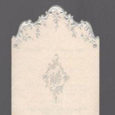 Coleccionismo Papel Varios: MENÚ: DEJEUNER DU 21 OCTOBRE 1897. MARGUERY - PARIS. TROQUELADO. Lote 178229407