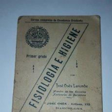 Coleccionismo Papel Varios: CURSO COMPLETO DE ENSEÑANZA GRADUADA FISIOLOGÍA E HIGIENE PRIMER GRADO AÑO 1910. Lote 178318321