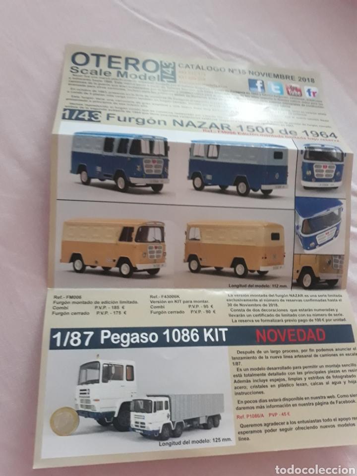 Coleccionismo Papel Varios: Folleto publicitario Otero Scale Model 1/43 Pegaso Nazar dodge Barreiros jeep - Foto 2 - 178372873