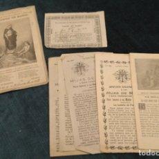 Coleccionismo Papel Varios: ANTIGUO LOTE DE HOJAS RELIGIOSAS SOBRE LAS HIJAS DE MARÍA. 1884 A 1ª MITAD S. XX. Lote 178389436
