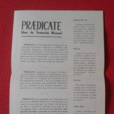 Coleccionismo Papel Varios: ANTIGUA HOJA FOLLETO PRAEDICATE PREDICATE IDEAS DE FORMACIÓN MISIONAL MISIONES SACERDOCIO Y MISIÓN... Lote 178398828