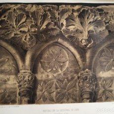 Coleccionismo Papel Varios: LEON REPISAS EN LA CATEDRAL DE LEON 1855. Lote 178637641