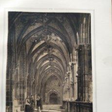 Coleccionismo Papel Varios: LEON CLAUSTRO DE LA CATEDRAL 1855 PARCERISA MARTINEZ . Lote 178639402