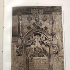 Coleccionismo Papel Varios: LEON SEPULCRO DEL CLAUSTRO DE LA CATEDRAL 1855 . Lote 178639492