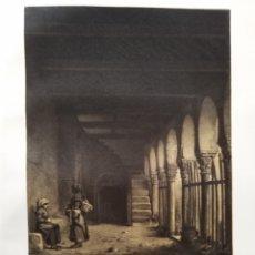 Coleccionismo Papel Varios: LEON PORTICO DE LA IGLESIA DE SAN MIGUEL DE ESCALADA 1855 . Lote 178640878