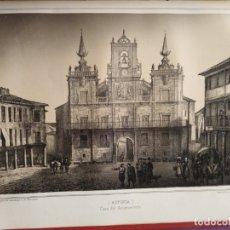 Coleccionismo Papel Varios: LEON ASTORGA CASA DEL AYUNTAMIENTO 1855 PARCERISA E. CROSA . Lote 178641456