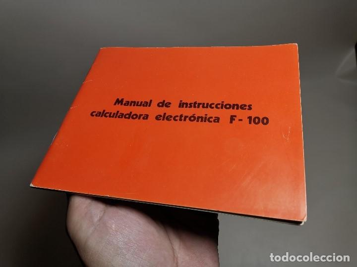 Coleccionismo Papel Varios: MANUAL INSTRUCCIONES CALCULADORA ELECTRONICA TRQ .F-100 (Talleres Radioelectricos Querol) TARRAGONA - Foto 2 - 178653990