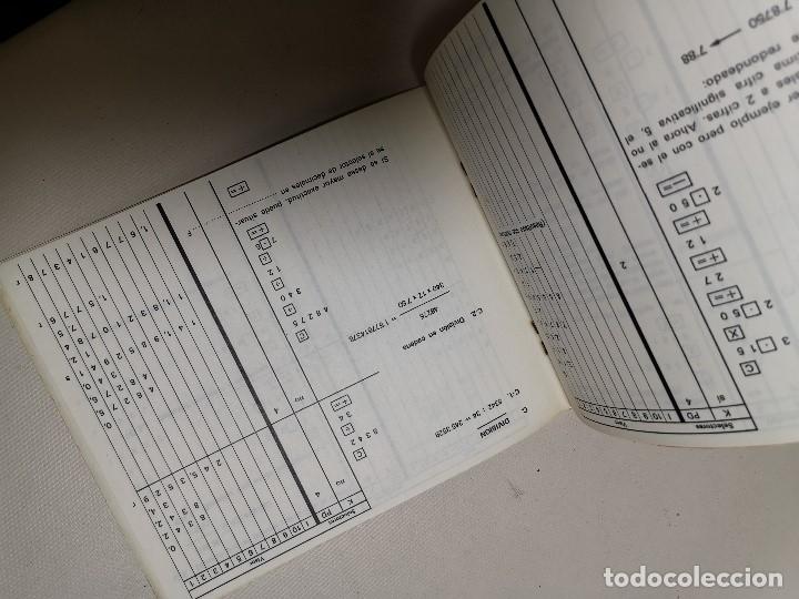 Coleccionismo Papel Varios: MANUAL INSTRUCCIONES CALCULADORA ELECTRONICA TRQ .F-100 (Talleres Radioelectricos Querol) TARRAGONA - Foto 5 - 178653990