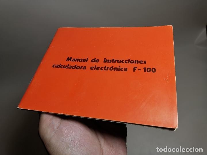 MANUAL INSTRUCCIONES CALCULADORA ELECTRONICA TRQ .F-100 (TALLERES RADIOELECTRICOS QUEROL) TARRAGONA (Coleccionismo en Papel - Varios)