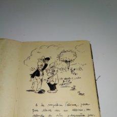 Coleccionismo Papel Varios: DEDICATORIA DIBUJANTE OLMO. AÑOS 40. Lote 178679756