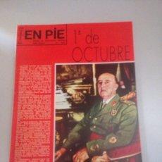 Coleccionismo Papel Varios: REVISTA EN PIE 1 DE OCTUBRE FRANCO. Lote 178738450