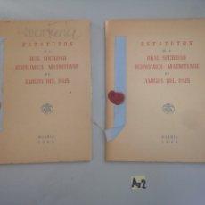 Coleccionismo Papel Varios: 1966 - ESTATUTOS DE LA REAL SOCIEDAD ECONÓMICA MATRITENSE DE AMIGOS DEL PAÍS. Lote 178738687