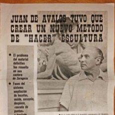 Coleccionismo Papel Varios: ENTREVISTA A JUAN DE ÁVALOS MEDIADOS SIGLO XX. Lote 178747563
