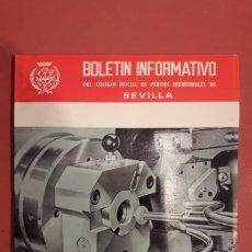 Coleccionismo Papel Varios: BOLETÍN INFORMATIVO DEL COLEGIO OFICIAL DE PERITOS INDUSTRIALES DE SEVILLA, JUNIO-SEPT 1967. Lote 178989367