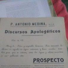 Coleccionismo Papel Varios: APOLOGETICOS, RARO MEDICAMENTO. Lote 179019822
