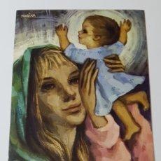Coleccionismo Papel Varios: DÍPTICO ILUSTRADO POR MARINA - NAVIDAD NIÑO JESÚS MARÍA - MIRACLE 4176 - MEDIDAS 121 X 166 MM. Lote 179180488