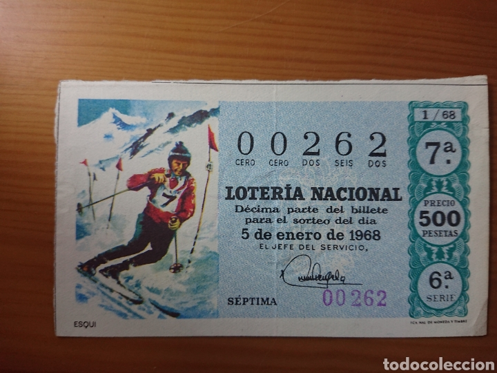 LOTERÍA NACIONAL, DÉCIMO DEL 5 ENERO DE 1968 (Coleccionismo en Papel - Varios)