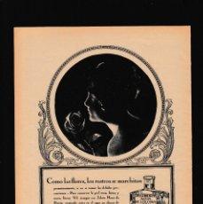 Coleccionismo Papel Varios: COLONIA AÑEJA - 15 ABRIL 1923 - PUBLICIDAD - ORIGINAL RECUPERADO PUBLICACION. Lote 179520791