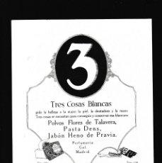 Coleccionismo Papel Varios: PERFUMERIA GAL - 15 ABRIL 1923 - PUBLICIDAD - ORIGINAL RECUPERADO PUBLICACION. Lote 179520865