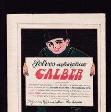 Coleccionismo Papel Varios: CALBER - 15 ABRIL 1923 - PUBLICIDAD - ORIGINAL RECUPERADO PUBLICACION. Lote 179522071