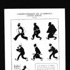 Coleccionismo Papel Varios: SILENO - CARICATURAS - 13 AGOSTO 1922 - ORIGINAL RECUPERADO PUBLICACION. Lote 179522765