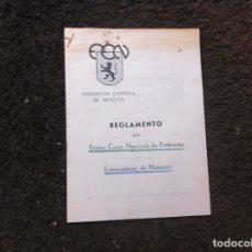 Coleccionismo Papel Varios: FEDERACIÓN ESPAÑOLA DE NATACIÓN. REGLAMENTO DEL PRIMER CURSO NACIONAL DE PROFESORES Y... 1953. Lote 179524007