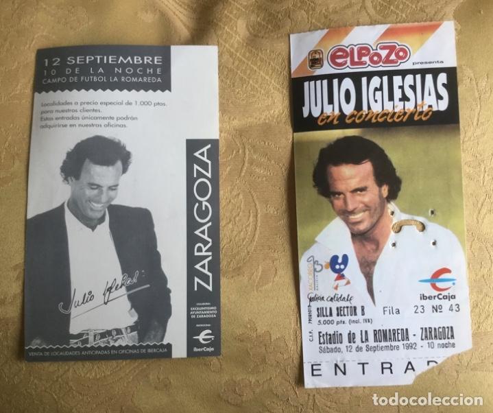ENTRADA CONCIERTO JULIO IGLESIAS AÑO 92 ESTADIO LA ROMAREDA ZARAGOZA (Coleccionismo en Papel - Varios)