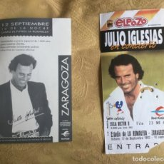 Coleccionismo Papel Varios: ENTRADA CONCIERTO JULIO IGLESIAS AÑO 92 ESTADIO LA ROMAREDA ZARAGOZA. Lote 180099655